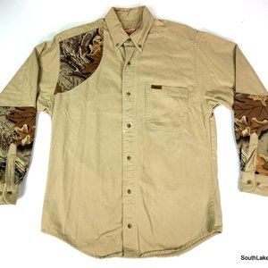 Woolrich L/S Shooting Hunting Shirt T-Shirt Medium